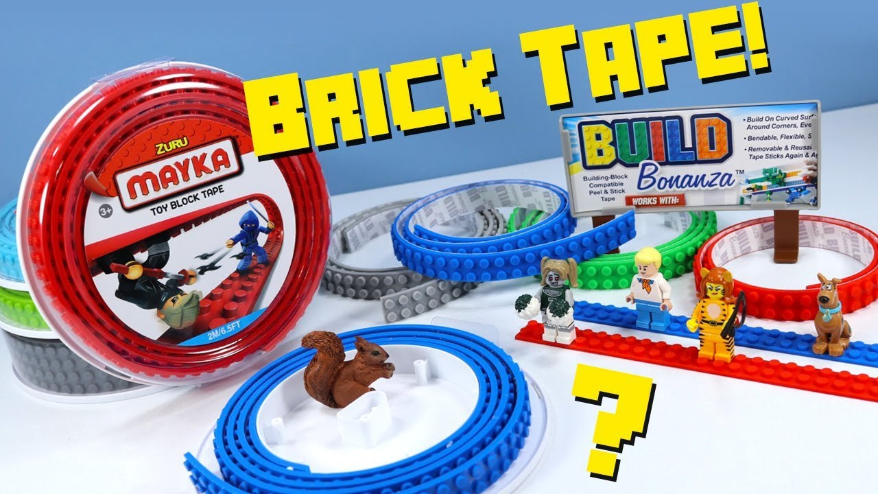 BUILD BONANZA Block Peel /& Stick Tape Works with LEGO® and Mega® blocks