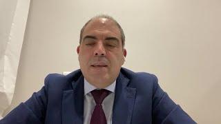 El presidente de ATA, Lorenzo Amor, tras la reunión para prorrogar el cese de actividad.