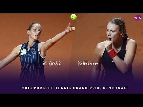 Karolina Pliskova vs. Anett Kontaveit   Porsche Tennis Grand Prix Semifinals   WTA Highlights