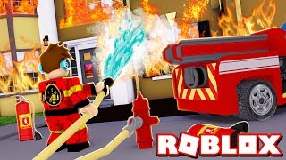 UNA CASA PEGOU FOGO NO ROBLOX !! (Roblox Fire Fighting Simulator)
