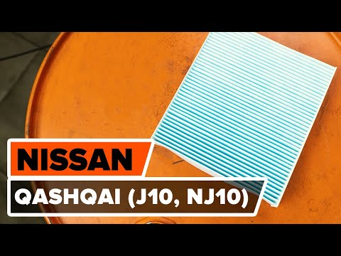 Как заменить салонный фильтр на NISSAN QASHQAI (J10, NJ10) [ВИДЕОУРОК AUTODOC]