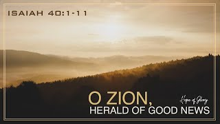 O ZION, HERALD OF GOOD NEWS