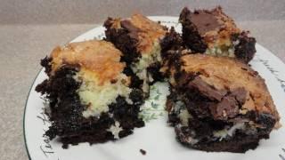Recipes Using Cake Mixes: #14  Cobblestone Coconut Brownies (semi-fail)