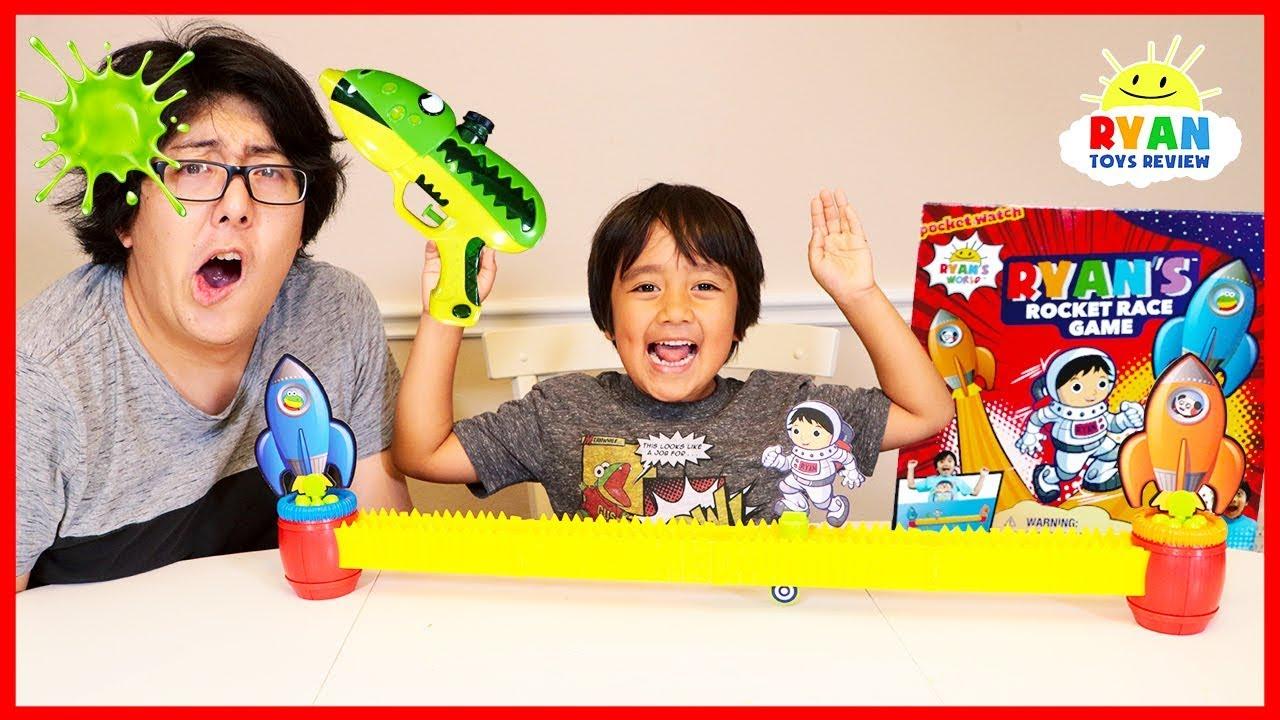 d0de25877 Ryan s Rocket Race Game vs. Daddy!! Loser Gets Blast with Slime ...