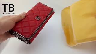 Обзор кошелька CHANEL (Шанель) красного цвета