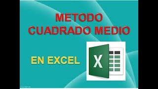 METODO CUADRADO MEDIO EN EXCEL