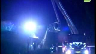 Chalet uitgebrand op caming Bergen op Zoom