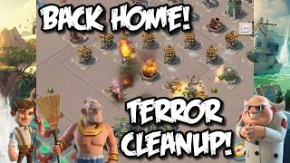 Boom Beach - Finally Home! Dr.Terror WRECKED! Maxed out Warriors! Destroying Boom Beach Players!