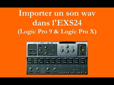 Importer un son .wav dans l'EXS24 (Logic Pro 9 & Logic pro X)