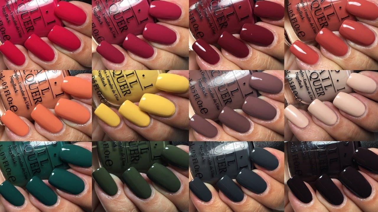 opi nail polish colors winter 2017