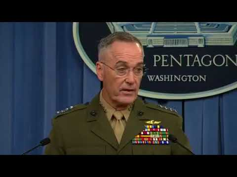 WATCH: General Joseph Dunford Press Briefing on Operations in Niger 2017