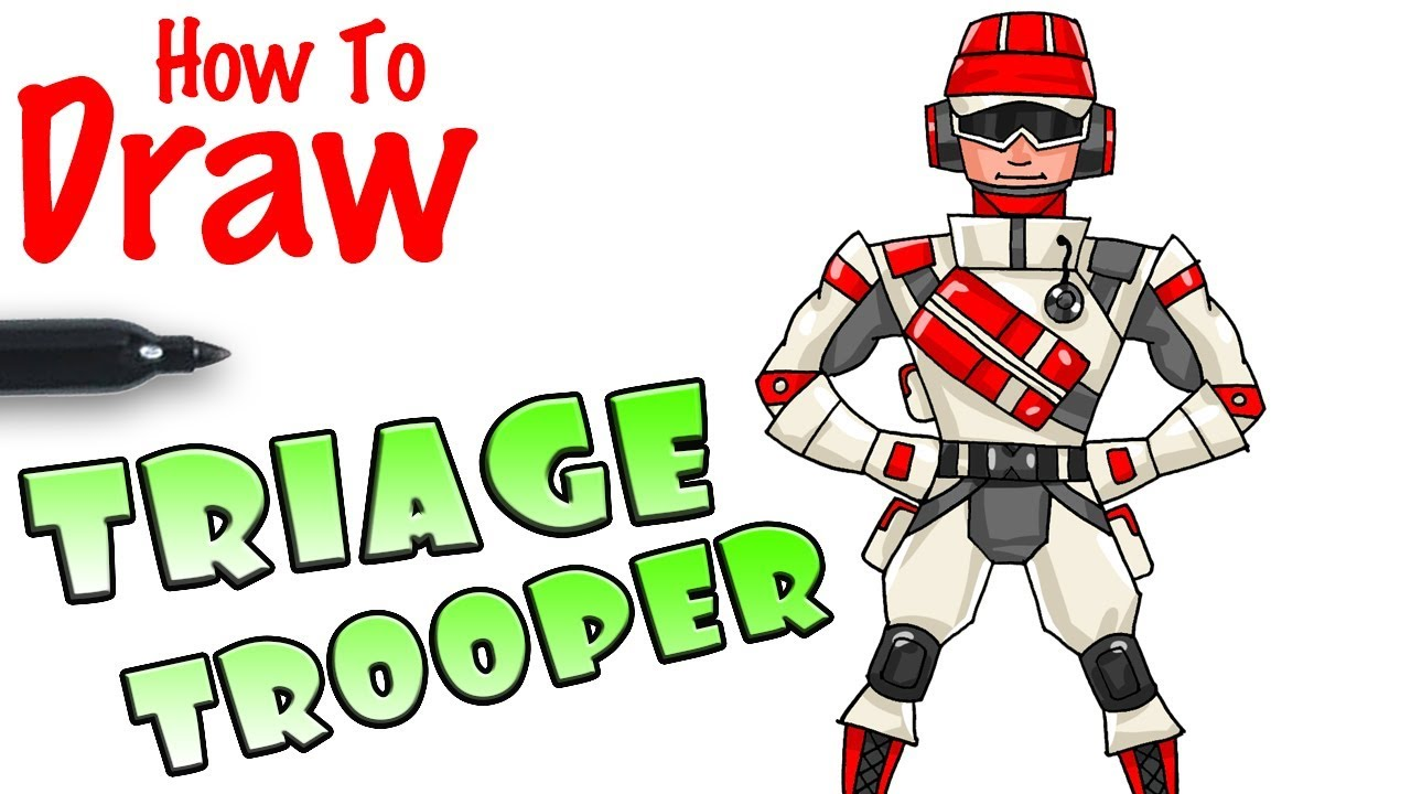How To Draw Triage Trooper Fortnite Youtubedownload Pro