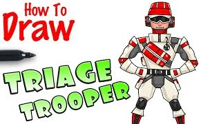 How to Draw Triage Trooper | Fortnite