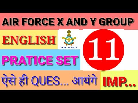 Air Force English Practice Set Paper 11 Air Force Practice