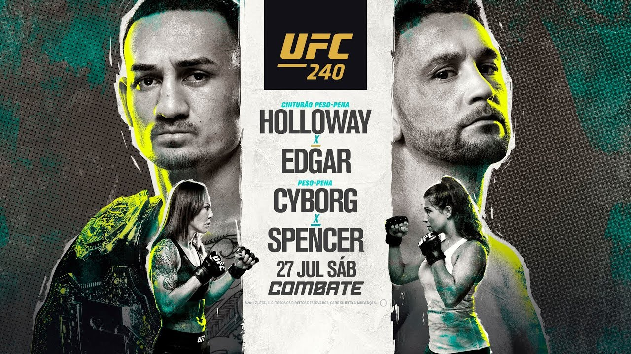 Resultado de imagem para MMA - UFC 240 – EDMONTON / CANADÁ