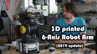 3D printed 6Axis Robot Arm (2019 Update)