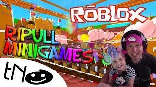 MINI GAMES in Ripull Minigames | Roblox | Daddy and Barunka CZ/SK