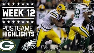 Packers vs. Eagles | NFL Week 12 Game Highlights