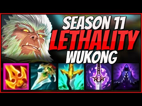 Season 11 Full LETHALITY Wukong SHREDS Through The Enitre Enemy Team With INCREDIBLE 112 LETHALITY!!