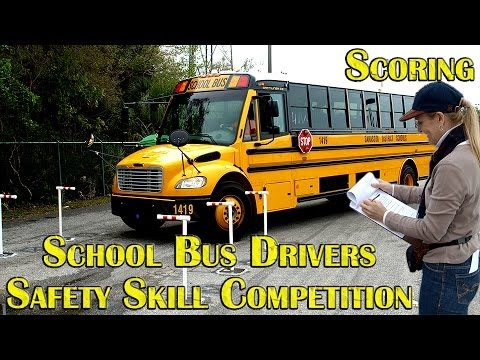 School Bus Drivers Safety Skill Competition - scoring