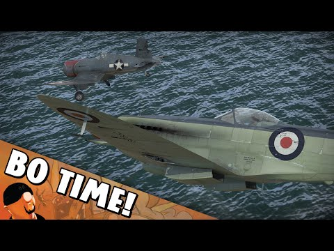 War Thunder - Seafire Mk XVII - Heat Seeking Missile For Trouble