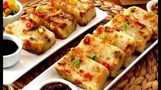 How To Make Chinese Turnip Cake 古早味蘿蔔糕