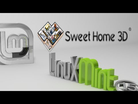 Sweet Home 3D : An Interior Design Software For Linux Mint - YouTube