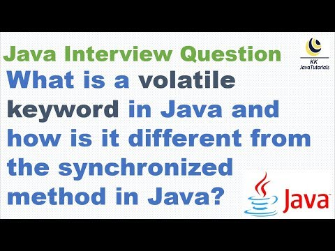 What Is A Volatile Keyword In Java And How Is It Different From The Synchronized Method In Java?
