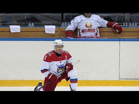Rusya Devlet Başkanı Putin, Buz Hokeyi Gece Ligi'nde takımını zafere taşıdı