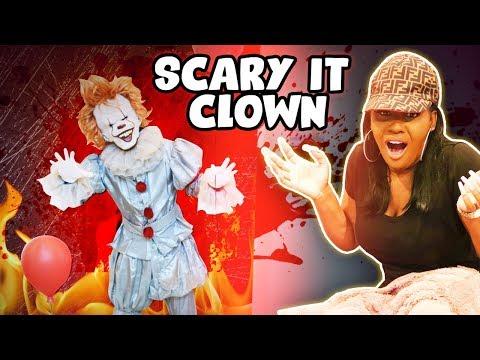 Scary It Clown Prank On Wife!!!