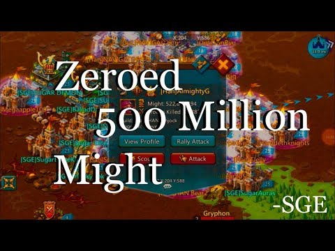 Lord Mobile : 500 Million Might Player ZEROED SGE Vs. Han