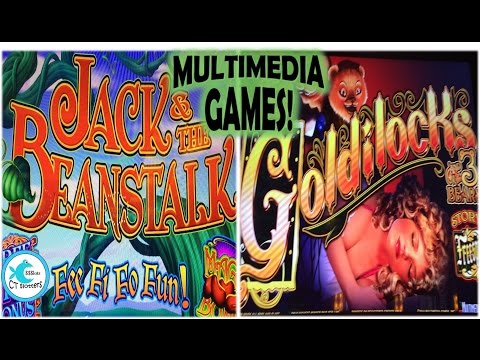Multimedia Games Slot Machines - Jack & the Beanstalk/Goldilocks & the 3 Bears