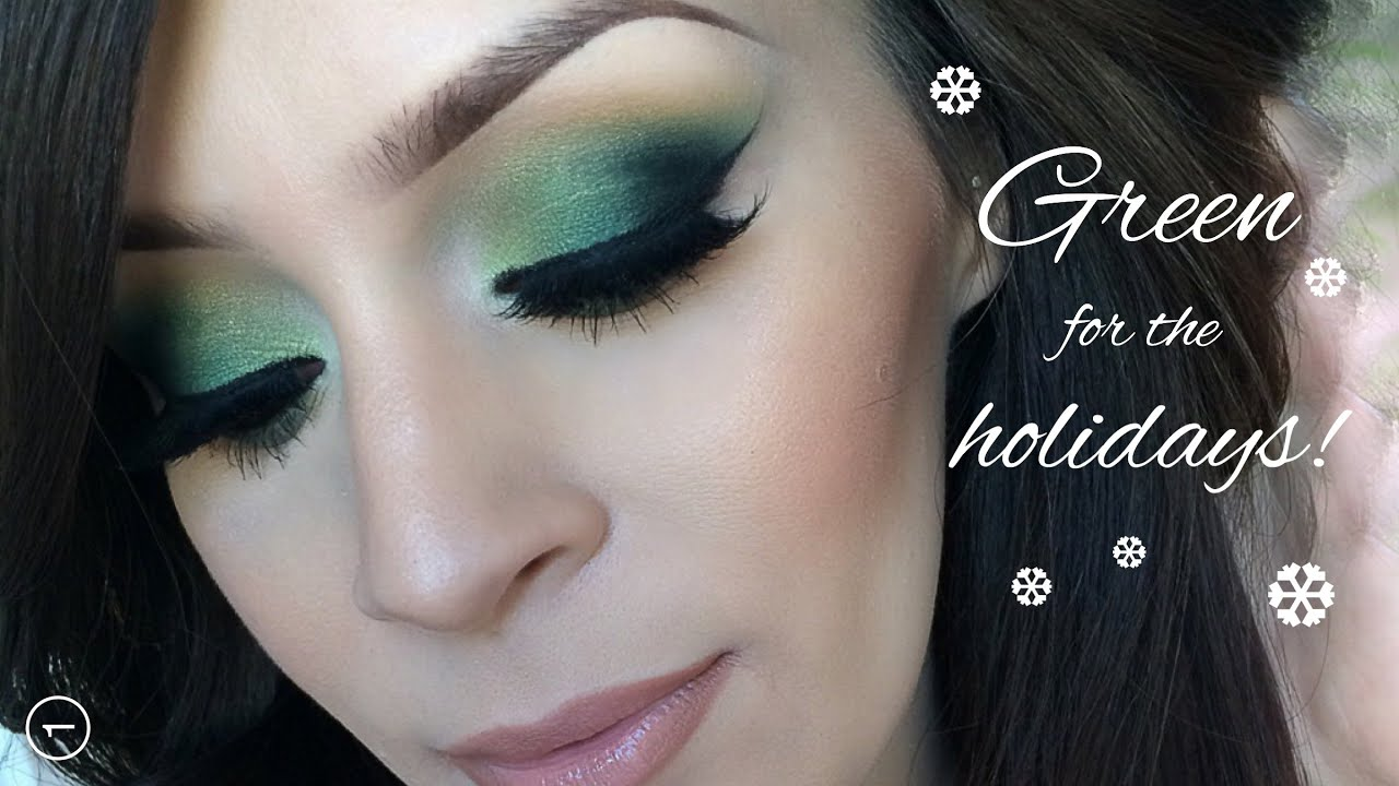 holiday makeup tutorial l green christmas