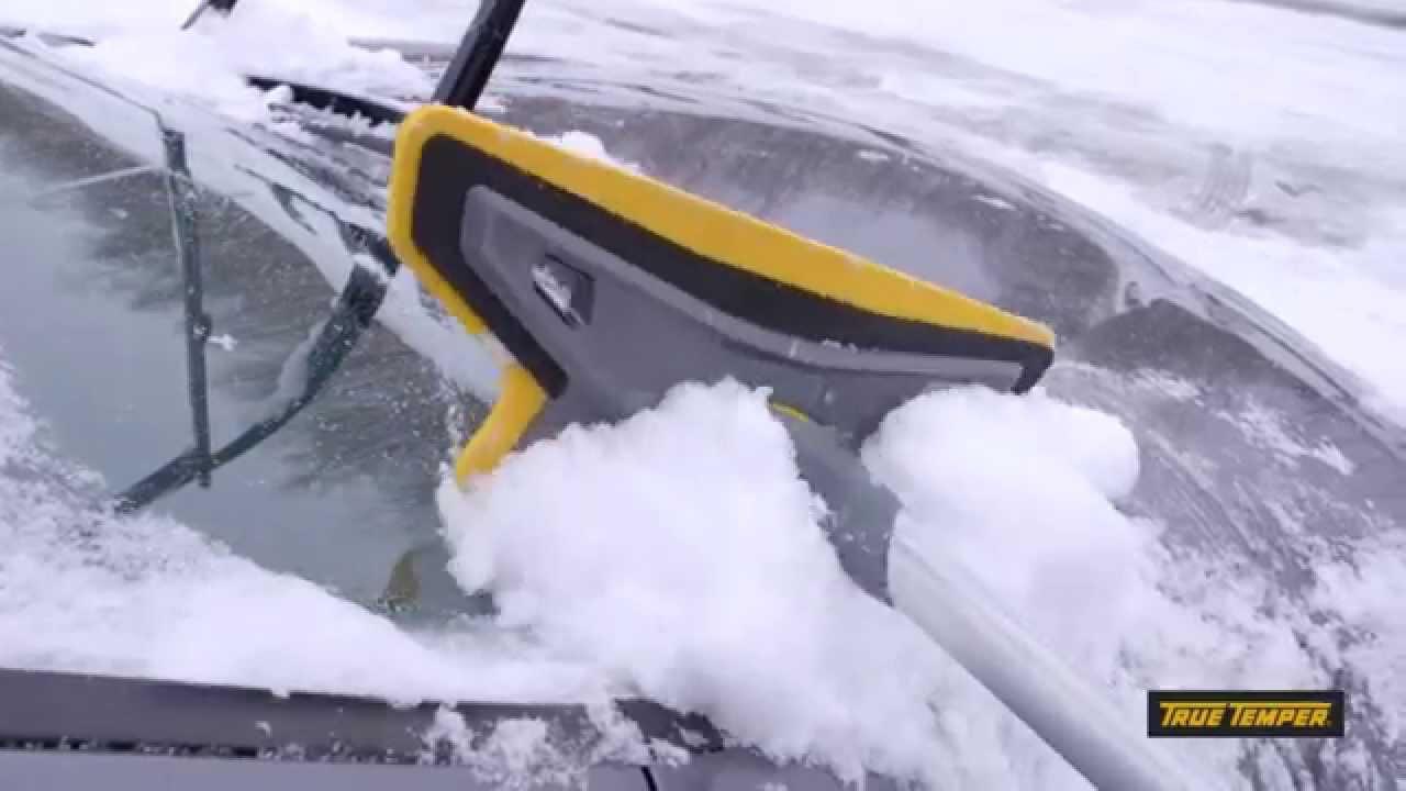 True Temper Scratch Free Telescoping Snow Brush Youtube