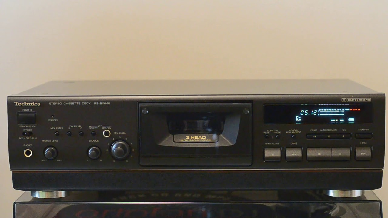 Technics RS-BX646 Cassette Deck DEMO - YouTube