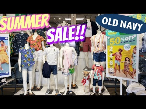 OLD NAVY * SUMMER CLEARANCE * SHOP WITH ME WALK THROUGH JUNE 2019