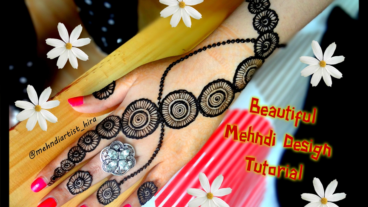 Mehndi design 2017 ki - How To Apply Easy Simple Circular Henna Mehndi Designs For Hands Tutorial Eid Marraige 2017