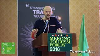 Plastic Pollution and Sustainable Travel with Jeremy Smith at Mekong Tourism Forum 2018