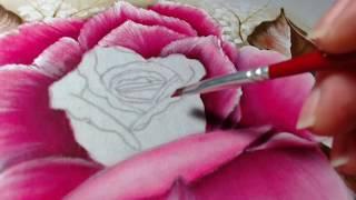 Pintura em Tecido Rosa Gigante – Final