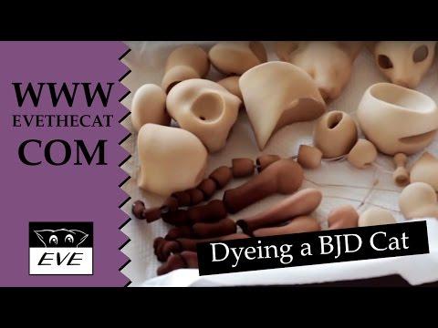 Learn to dye a BJD cat