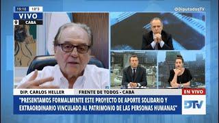 28-08-2020 - Carlos Heller en DTV con Pato Méndez #AporteSolidarioExtraordinario