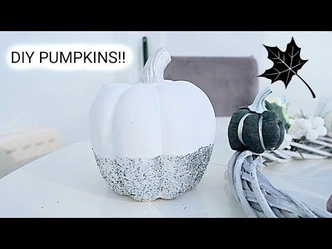DIY PUMPKINS | AUTUMN/FALL HOME DECOR | ON A BUDGET