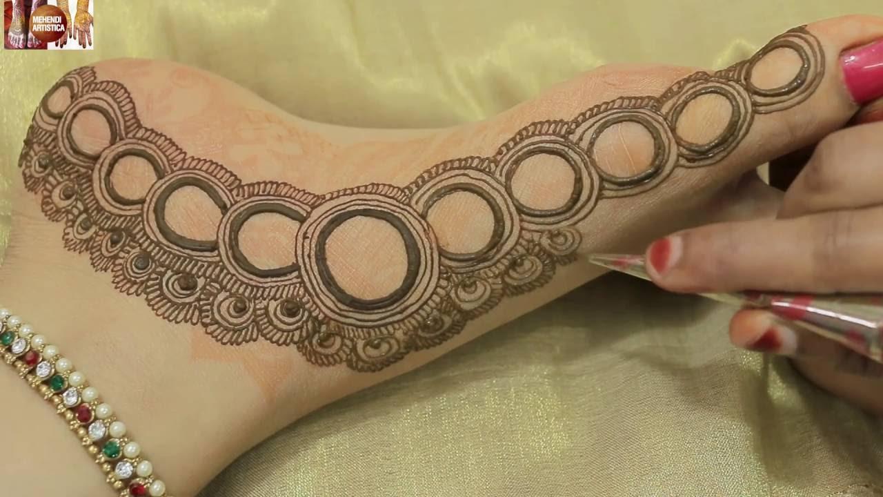 Mehndi Designs For Feet Bridal : Easy designer pakistani wedding heena mehndibeautiful bridal feet