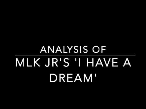 Analysis of Martin Luther King Jr 'I Have a Dream'