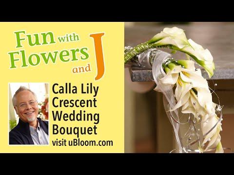 creating-a-cascading-calla-lily-wedding-bouquet!