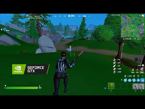 GTX 1650 Super And Ryzen 5 2600 Fortnite PERFORMANCE MODE Tested  165,160,144 FPS