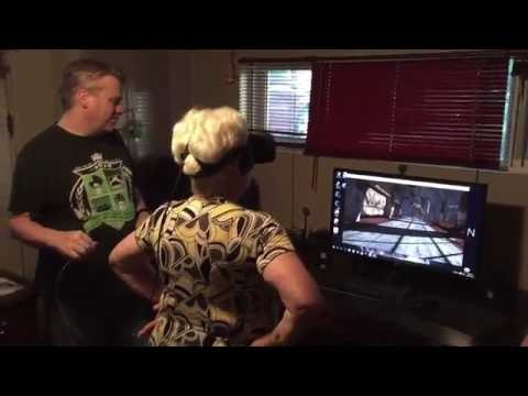 Grandma loses it on Oculus Rift! (Warning: Language)