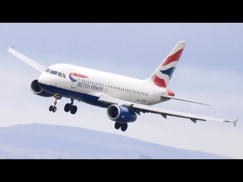 GO AROUND with CROSSWIND LANDINGS at Manchester Airport in Stormy Weather- WITH ATC