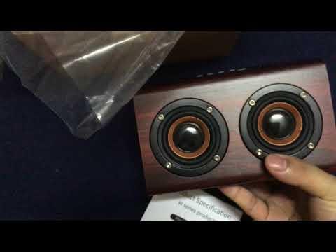 W7 wood speaker sound music speaker bluetooth bass TF AUX subwoofer double speaker effects bass