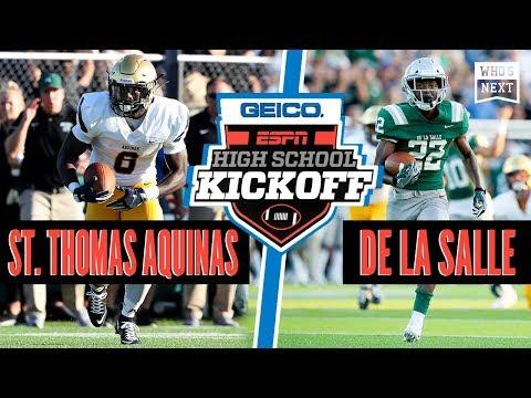 St. Thomas Aquinas (FL) Vs. De La Salle (CA) Football - ESPN Broadcast Highlights